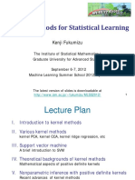 Kernel Methods for Statistical Learning