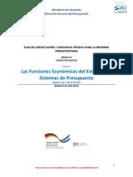 DC4601 6. Curso 5 Las Funciones Economicas Del Estado y Los Sistemas de Presupuesto