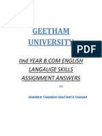 Geetam Univerist 2nd Year English Langauge Skills Assignment Answers-By Shanmuk Vardhan