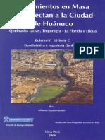 MOVIMIENTO EN MASA QUE AFECTAN A LA CIUDAD DE HUÁNUCO. QUEBRADAS JACTAY%2C TINGORAGRA-LA FLORIDA Y LLICUA%2C 2006.pdf