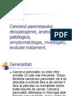 Cancerul pancreasului