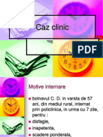 Caz Clinic Cancer Esofagian