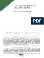 Hayek_EL USO DEL CONOCIMIENTO EN LA SOCIEDAD.pdf