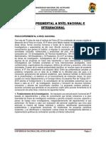 Fisica Experimental o Nivel Nacional e Internacional