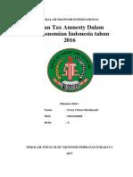 Peran Tax Amnesty dalam Perekonomian Indonesia