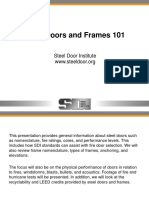Steel Doors and Frames 101