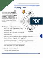Global Geography Worksheets 3 Longitude