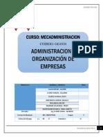 Administracion y Organizacion de Empresas Grupo 3