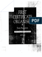 First Certificate Organiser