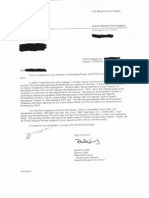 FBI Response Letter regarding Bobby Thomson