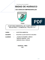 Auditoria Ambiental de Cumplimiento Empresa Trillex