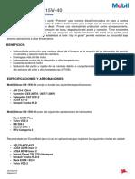 Ficha Mobil Delvac MX 15W-40