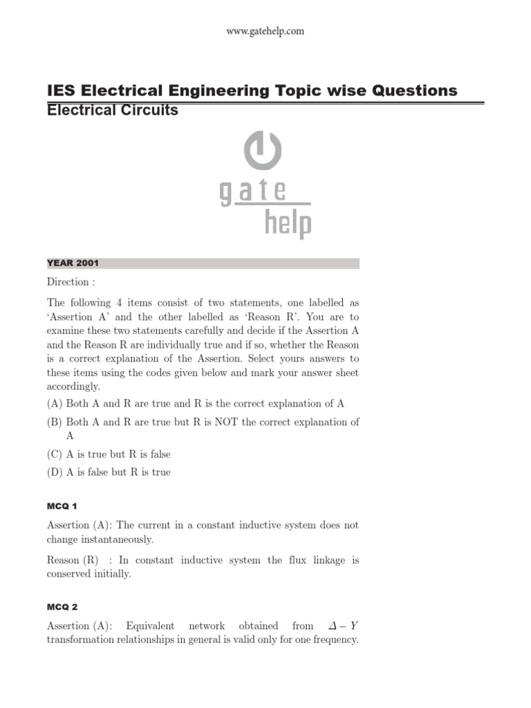 Mcq Electrical Circuits Impedance Network Rc The Frequency Dependent Of An Series Circuit