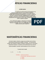 Matemáticas Financieras Interes Simple