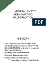 Congenital Cystic id Malformation