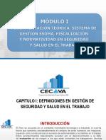 Capitulo i - Definiciones en Gestión de Seguridad y Salud en El Trabajo