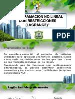 6.Programacion No Lineal Con Restricciones (Lagrange)