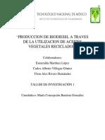 Proyecto Biodiesel