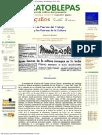 1978 - Gustavo Bueno - Las Fuerzas Del Trabajo y Las Fuerzas de La Cultura, 1978
