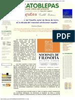 1955 - Gustavo Bueno - Un Profesor de Filosofía, autor de libros de texto, en la década del -Nacional Catolicismo Español- 1955