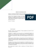 Resolución - Modificación reglamento interno de la Legislatura referida a las reuniones de asesores