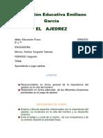 EL   AJEDREZ. Institución Educativa Emiliano García