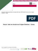 Info Trafic Chartres Voves Des 28 Et 29.05.2018 Aucun Train