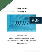 EASE Focus 3 User's Guide