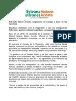 25/05/2018 Refrenda Maloro Acosta Compromiso de Trabajar a Favor de Los Maestros