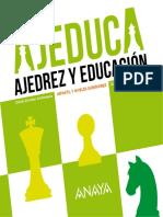 Ajeduca, Ajedrez y Educación. Catalogo Anaya