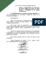 Decreto 1400_2002 - Regulamento de Uniforme Da PMMT
