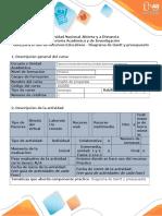 Guía Para El Uso de Recursos Educativos - Diagrama de Gantt y Presupuesto