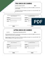 Letra Unica de Cambio