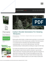 Carbon-Dioxide Generators for Growing Marijuana