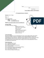 Syllabus 2010-2011 - 6th Grade Science