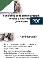 6.- Funciones de La Administracion- Niveles y Habilidades Gerenciales