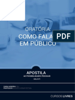 Aula1_Apostila-Oratória- Como Falar Em Público