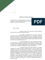 Declaración - pedido de traspaso de competencias judiciales a la Justicia Porteña