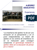 Experiencia Ajedrez Educativo Febrero2014