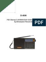 Xhdata D-808 en Manual