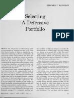 Selecting Defensive Portfolio