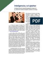 La inteligencia y el ajedrez José Antonio Marina