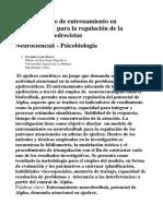 Modelo teórico de entrenamiento en  Neurofeedbak para la regulación de la  atención en ajedrecistas  Neurociencias