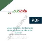 Lineas Generales de Operación VP