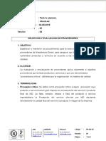 PR-AD-02 Selección y Evaluación de Proveedores