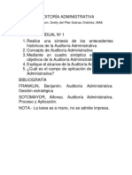 Tarea Individual 1. Auditoría Administrativa