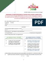 domanda di partecipazione a Estate Junior 2018