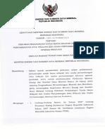 Keputusan Menteri ESDM Nomor 1825 K 30 MEM 2018