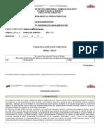 Programa Instruccional Politica y Legislación Agraria
