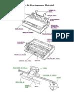 Partes de Una Impresora Matricial